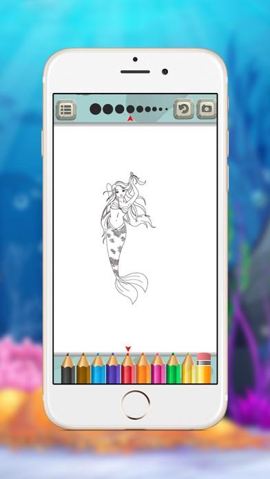 点击获取Mermaid Princess Coloring Book