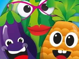 Fruit and vegetables fun faces from Kitchen Garden