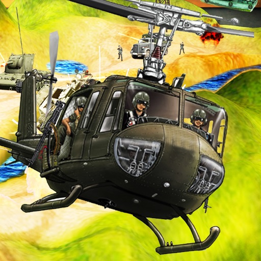 Army Commando Helicopter War Shooting 3D iOS App