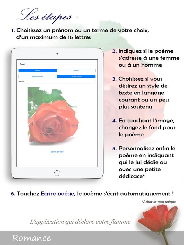 Romance Déclaration Damour En Poésie Acrostiche Dans L