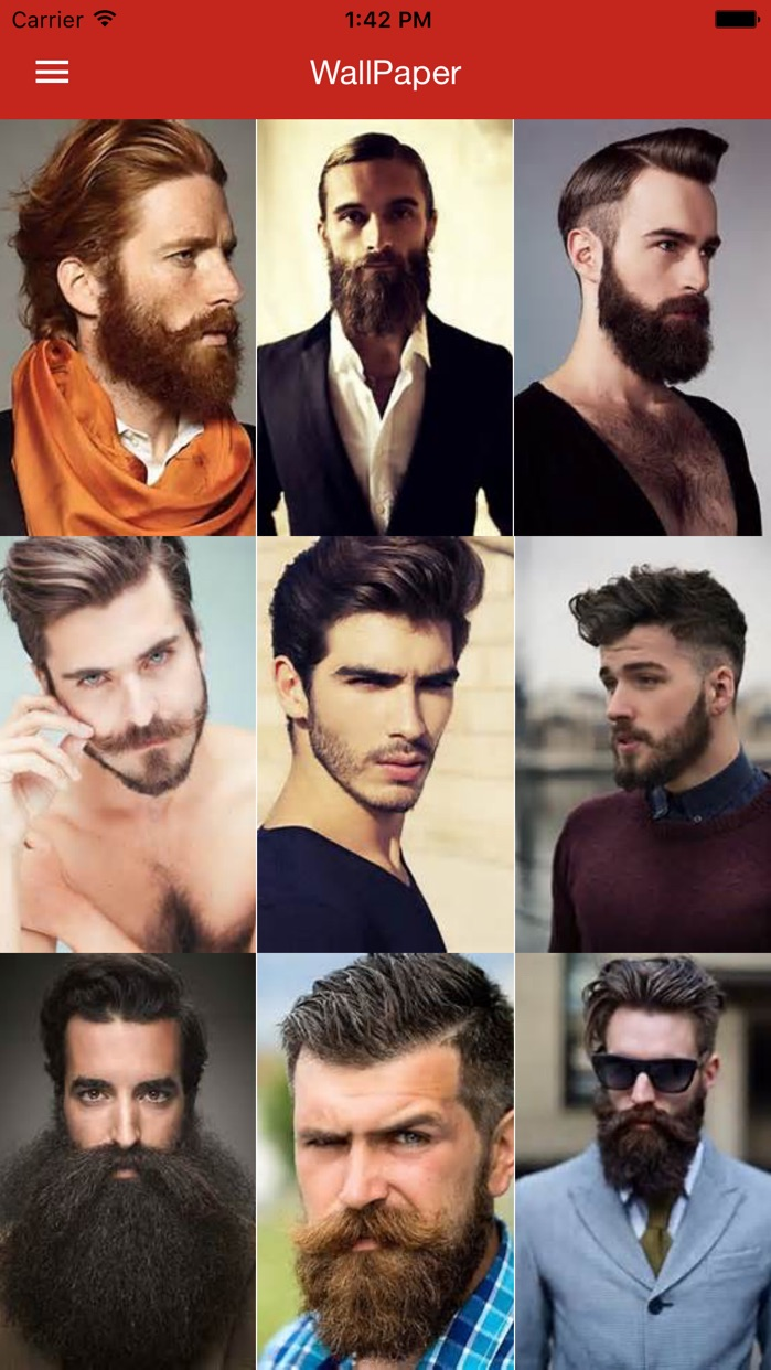Beard Styles - Mens Hair Style Ideas Gallery Free Screenshot