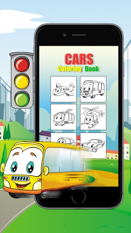 Cars Coloring Book For Kid