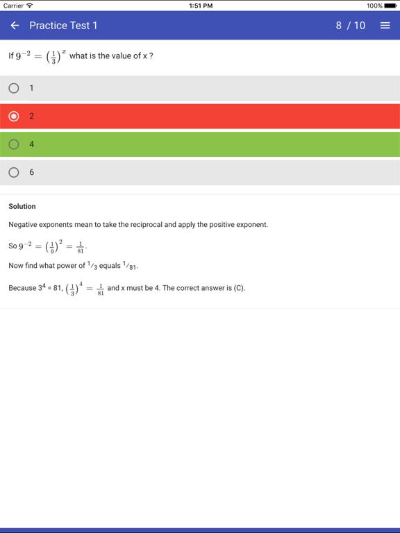 SAT Maths Practice Tests - No Calculator | App Price Drops
