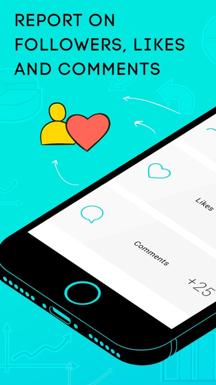 Followers and likes analytics for social network + app image