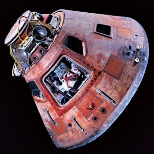Splashdown, Apollo Command Module, 3-D (for Amber/Blue glasses)