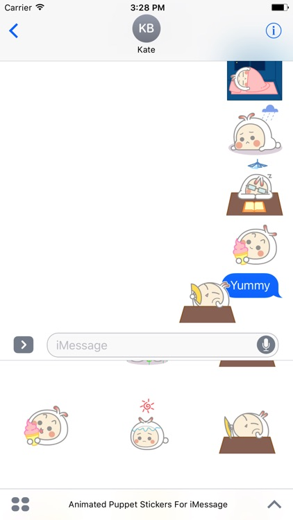 Animated Cute Puppet Stickers For iMessage screenshot-4