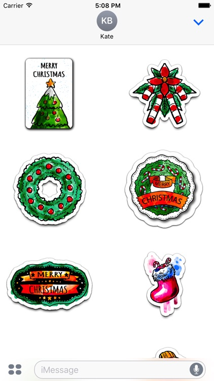 Watercolor Christmas Stickers Vol. 3