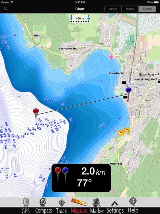 Ammer lake Nautical Charts Pro screenshot-3