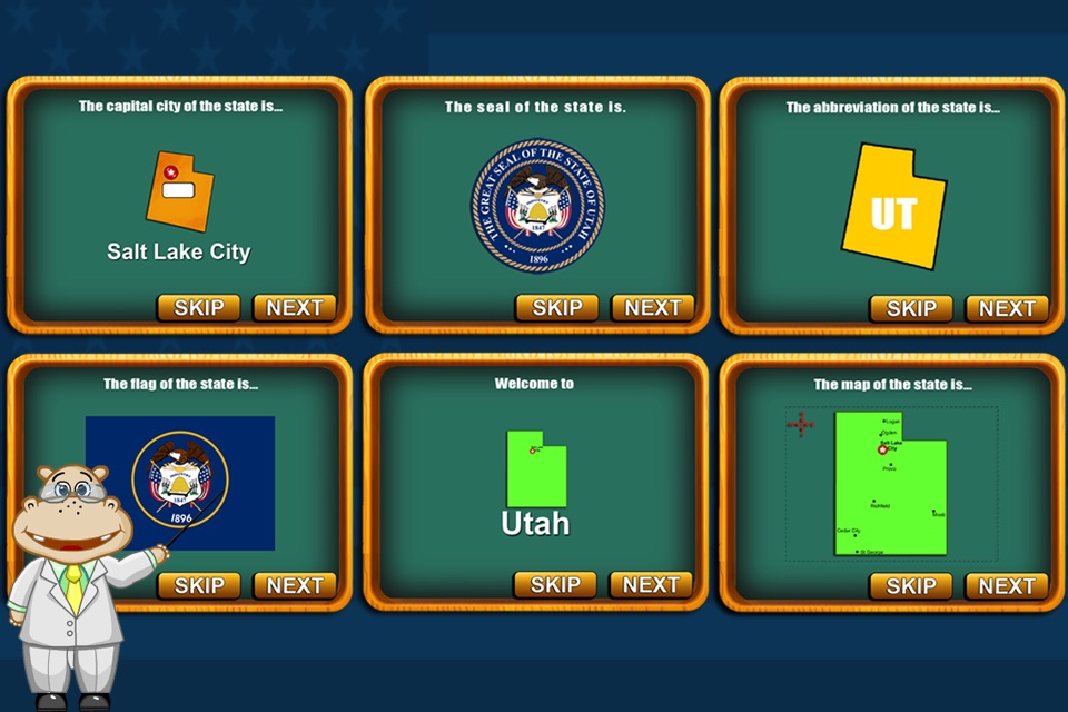 Fifty States and Capitals Learning Games Apps kids - Online ...