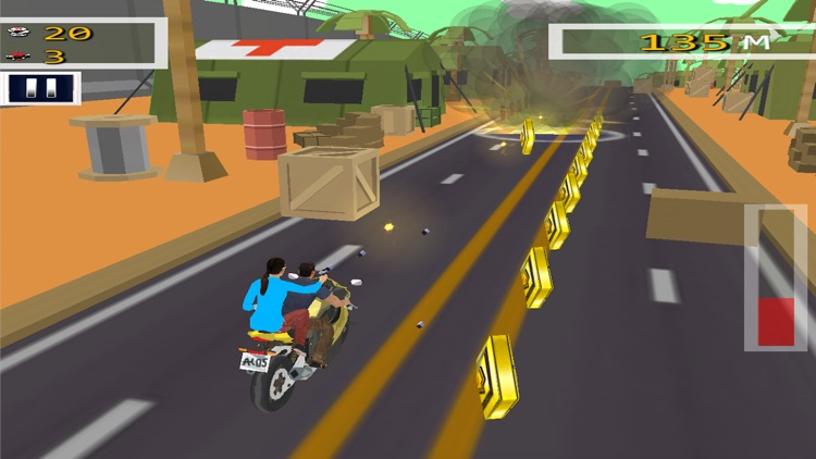 Bike Rider Highway Shooting screenshot-3
