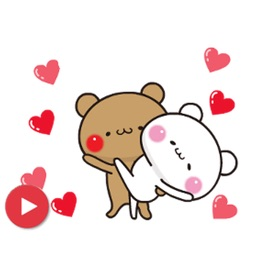 Animated Love Story Of Bears Stickers