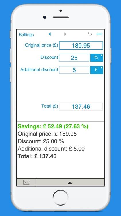 Smart Discount Calculator screenshot-3