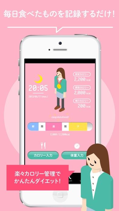 ダイエット・体重管理アプリなら【楽々カロリー】 - 窓用