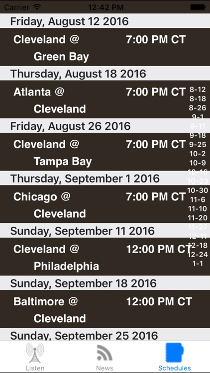 Cleveland Football - Radio, Scores & Schedule screenshot-3