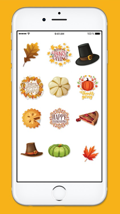 Happy Thanksgiving Fall and Autumn Sticker Pack screenshot-4