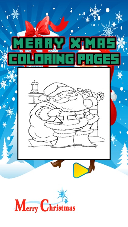 Santa Claus Coloring Page Christmas Book for Kids