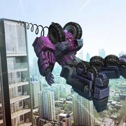 Futuristic Robot: Rope Superhero