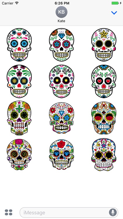 Muerto iMessage Sticker Pack
