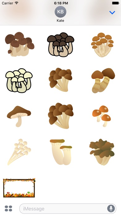 人食慾蘑菇貼紙屏幕截圖3