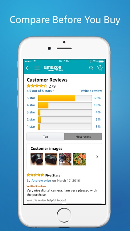 Amazon App: shop, scan, compare, and read reviews app image