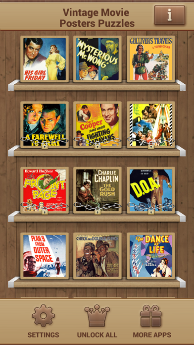 Vintage Movie Posters Puzzles screenshot two