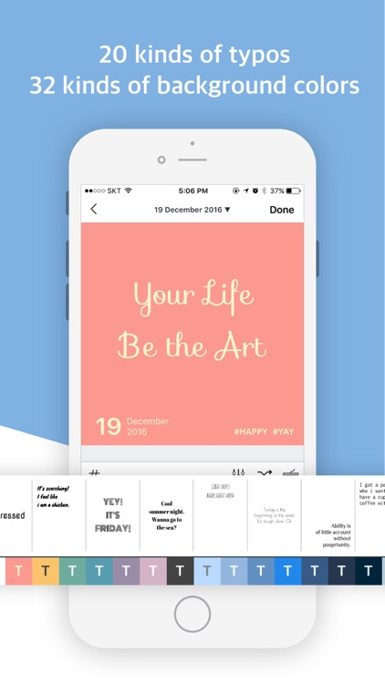 Paletto: Apply typo filter to your diary for Insta