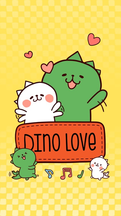 Dino Love stickers