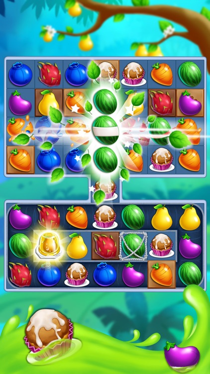 Monster Fruit Pop Jam: match 3 games matching free screenshot-4