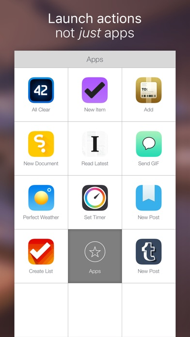 Launch Center Pro - Shortcut launcher & workflows Screenshot