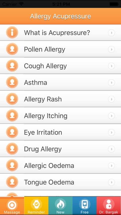 Allergy Acupressure Self-Treatment Massage Points screenshot-2