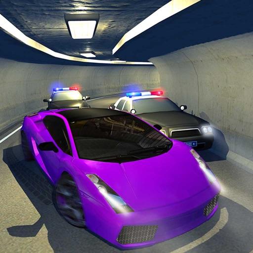 Полиция Машина Побег Ночь Режим гоночный Чейз Игра