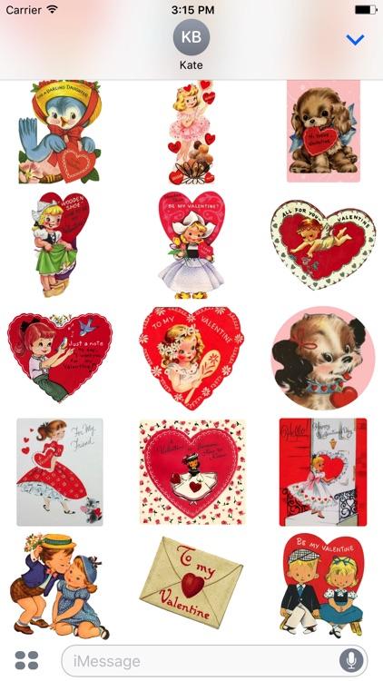 Valentine's Day Stickers - Vintage Edition screenshot-4