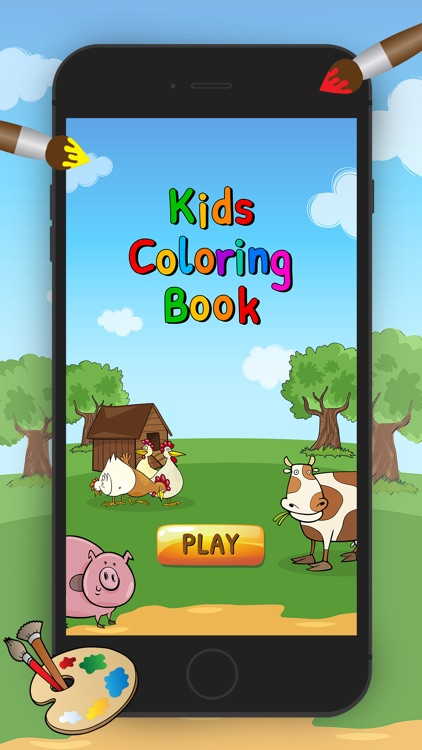 Land Animals Coloring Book for Kids or Preschool by Chayawatthanin ...