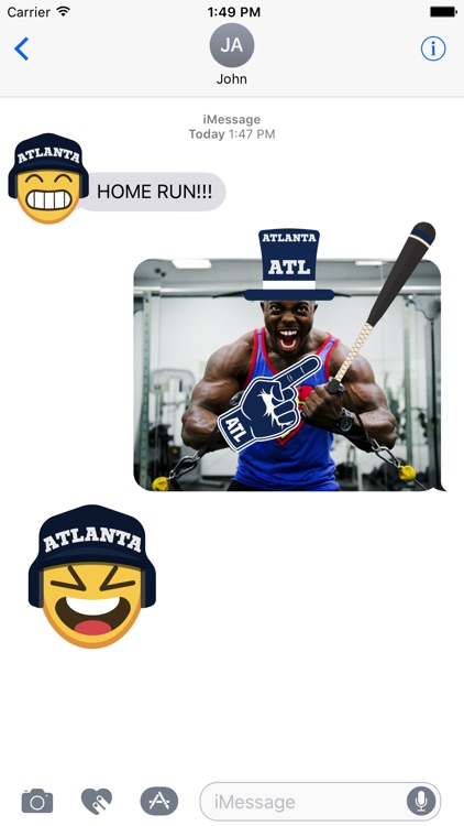 Atlanta Baseball Stickers & Emojis