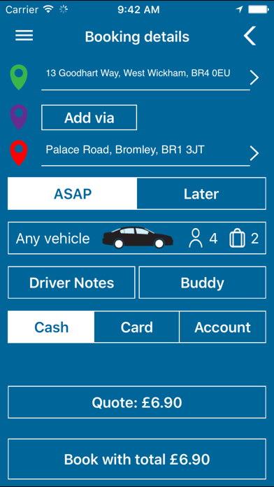 Cannon Cars- Booking App screenshot three