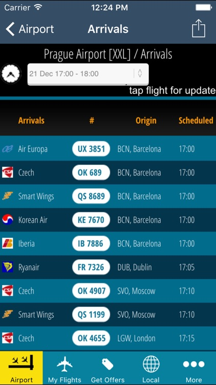 Prague Airport Pro (PRG) + Flight Tracker