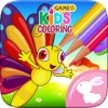 蝴蝶 童话 油漆 和 绘制 着色书 绘画