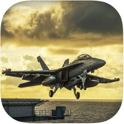 Flight With F18 Fighter