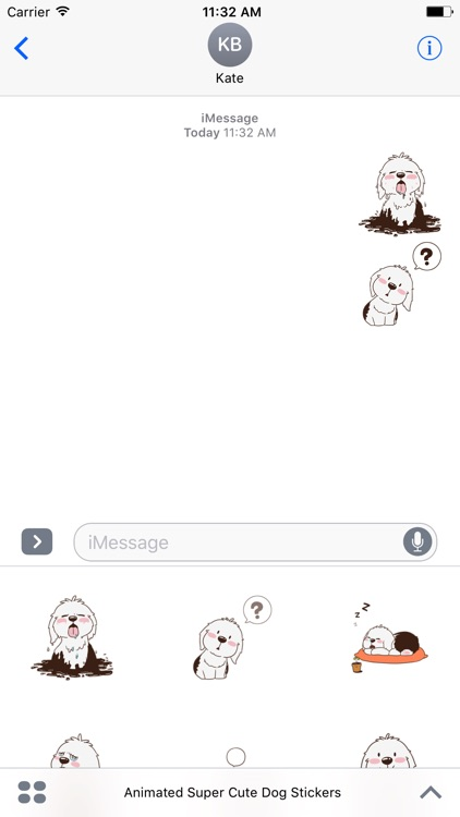 Animated Super Cute Dog Stickers