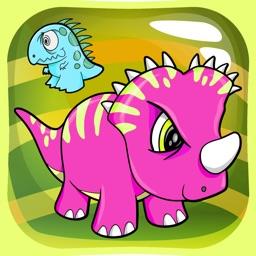 Dinosaur Match 3 Puzzle - Dino Drag Drop Line Game