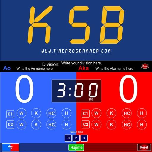 Karate Scoreboard Kumite