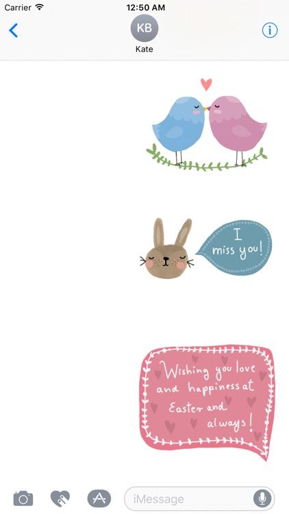 Cute Easter Wishes screenshot-3