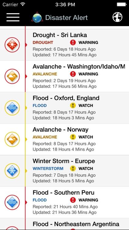 Disaster Alert (PDC World Hazards)