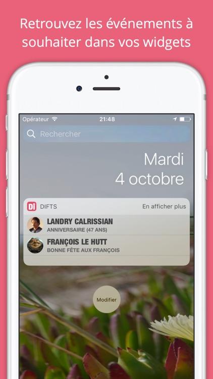 Difts - Fêtes et Anniversaires de vos contacts screenshot-3