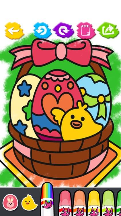 Easter Day Coloring Book screenshot-3