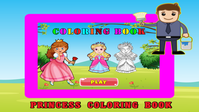 Princess Kids Coloring Book For Girl - 48 Pages screenshot one