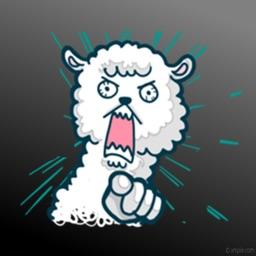 Crazy Alpaca Sticker