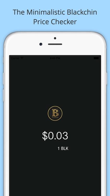 BlackChecker - Blackcoin Price Checker