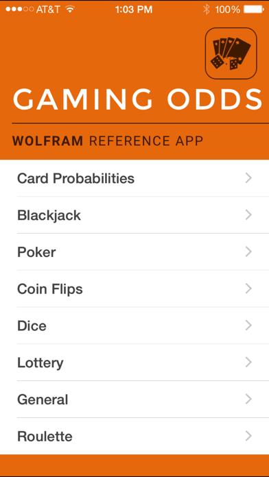 Wolfram Gaming Odds Reference Appのおすすめ画像1