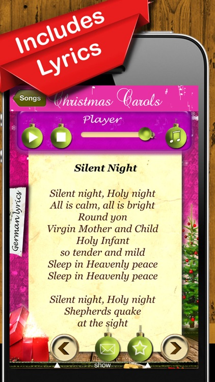 Christmas Carols - Songs to Hear & Sing Along screenshot-3